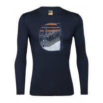 TEE SHIRT ML 200 OASIS CREW MONT BLANC RISE MIDNIGHT NAVY