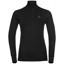 TEE SHIRT ML ACTIVE WARM ECO 1/2 ZIP LADY BLACK