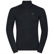 TEE SHIRT ML ACTIVE WARM ECO 1/2 ZIP BLACK