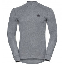 TEE SHIRT ML ACTIVE WARM ECO 1/2 ZIP GREY MELANGE