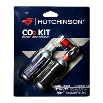 KIT 2 CARTOUCHES CO2 16G + EMBOUT PRESTA/SCHRADER