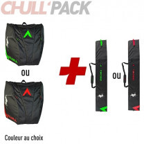 PACK HOUSSE A SKIS MATELASSEE + HOUSSE CHAUSSURES & CASQUE