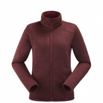 POLAIRE CALI FULL ZIP LADY WINE