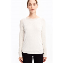 TEE SHIRT MANCHES LONGUES ASSENT CHALK HEATHER