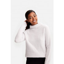 PULL TWO TONES SWEATER LANGUID BLUSH