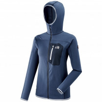 MICROPOLAIRE TRILOGY LIGHTGRID HOODIE LADY SAPHIR