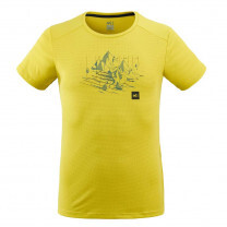TEE SHIRT BLACK MOUNTAIN TS SS WILD LIME