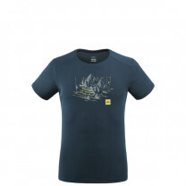 TEE SHIRT BLACK MOUNTAIN TS SS ORION BLUE