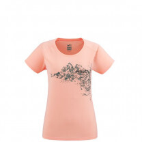 TEE SHIRT MC WHITE MOUNTAIN LADY POP CORAL