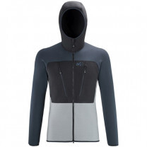 POLAIRE TRILOGY WOOLPOWER HOODIE MONUMENT / SAPHIR