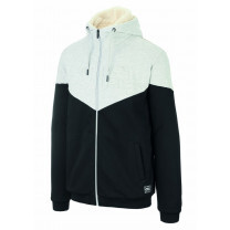 SWEAT BASEMENT PLUSH ZIP HOODIE BLACK