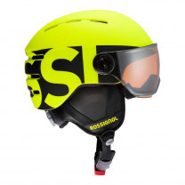 CASQUE VISOR JR NEON YELLOW/BLACK