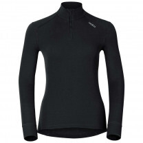 TEE SHIRT MANCHES LONGUES ½ ZIP ACTIVE WARM LADY NOIR